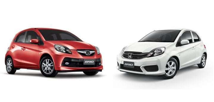 Honda Brio old vs new model- front