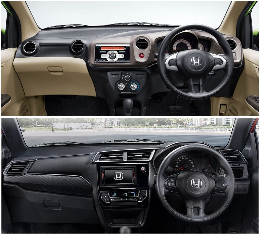 Honda Brio old vs new model- interiors