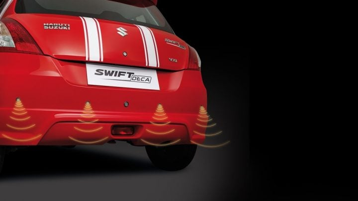 Maruti Suzuki Swift Deca Limited Edition Price, Images, Features Maruti-Suzuki-swift-deca-limited-edition-Reverse-Parking-Asst