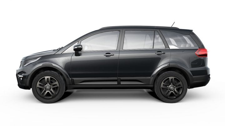 Tata Hexa vs Tata Aria Comparison of Price, Specifications, features tata hexa side