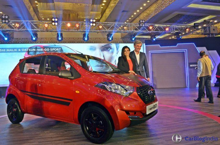 Limited Edition Datsun Redi Go Sport Price- 3.49 Lakh, Mileage, Images datsun-redigo-sport-launch-image-sakshi-malik