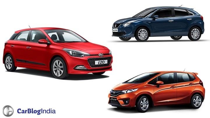 Hyundai Elite i20 Automatic vs Maruti Baleno AT vs Honda Jazz AT