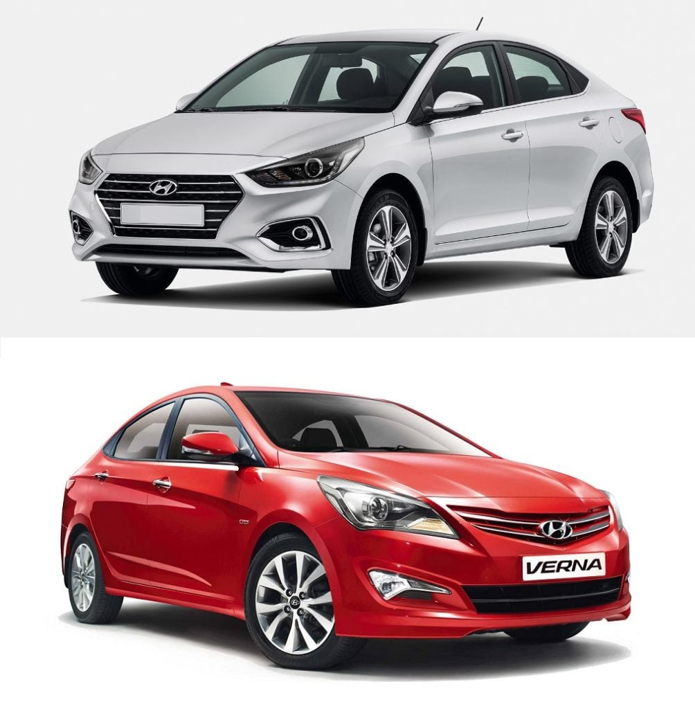 Hyundai Verna Old Vs New Carblogindia