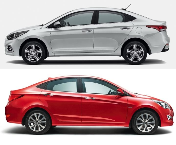 new 2017 hyundai verna vs old model comparison price specifications. Black Bedroom Furniture Sets. Home Design Ideas