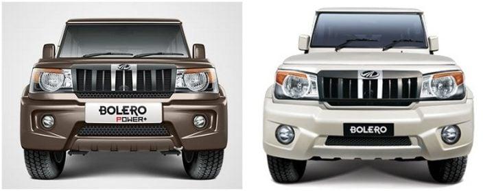 Mahindra Bolero Power Plus vs Mahindra Bolero Comparison of Price, Mileage mahindra-bolero-power-vs-mahindra-bolero-front