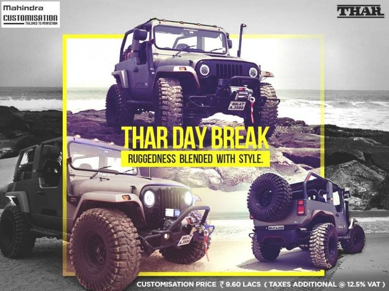 Mahindra Thar Daybreak is a Factory-Modified Beast; Priced at 19 Lakhs