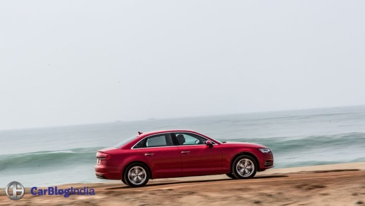 new 2016 audi a4 test drive review india images side profile