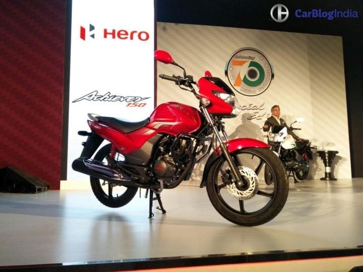 New 2016 Hero Achiever Price Rs 61,800; Mileage, Specifications, Images new-hero-achiever-launch-images-4