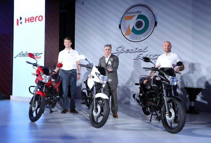 New Model Hero Achiever 2016 Price- Rs 61,800; Mileage, Specifications new-model-hero-achiever-2016-launch-image