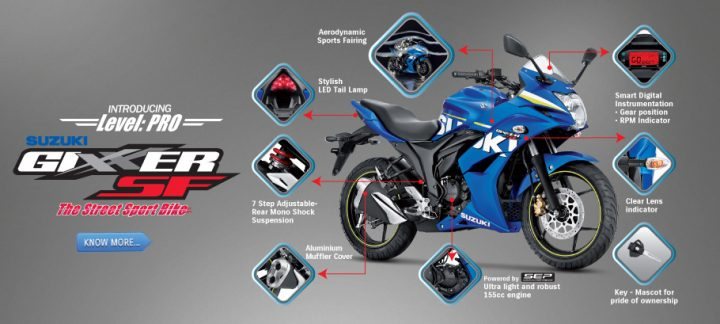 suzuki gixxer sf fuel injection images-features