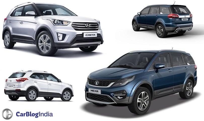 Tata Hexa vs Hyundai Creta Comparison of Price ...