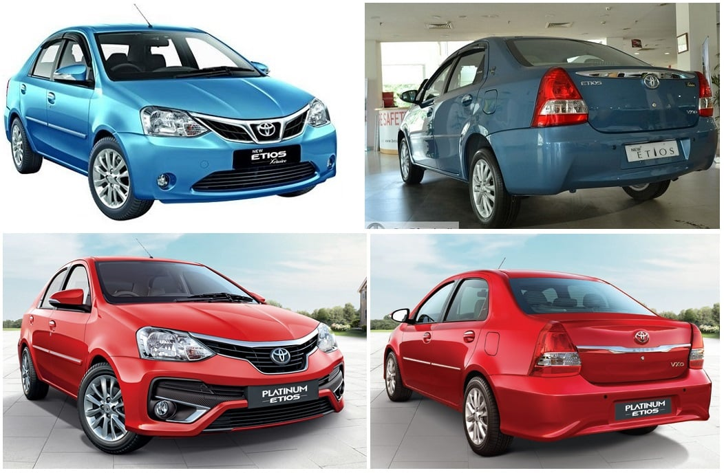 toyota etios old vs new model price specifications features comparison. Black Bedroom Furniture Sets. Home Design Ideas
