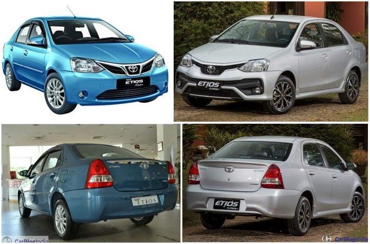 Toyota Etios Old vs New Model Price, Specifications, Features Comparison toyota-etios-old-vs-new-front-rear