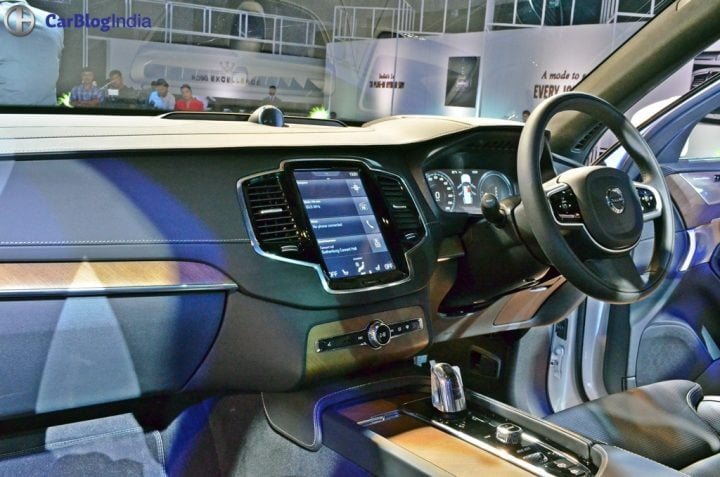 Volvo XC90 T8 Excellence India Price Rs. 1.25 crore, XC90 Hybrid SUV volvo-xc90-t8-india-launch-images-dashboard