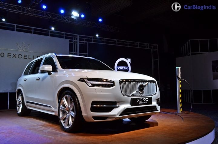 Volvo XC90 T8 Excellence India Price Rs. 1.25 crore, XC90 Hybrid SUV volvo-xc90-t8-india-launch-images-front-angle
