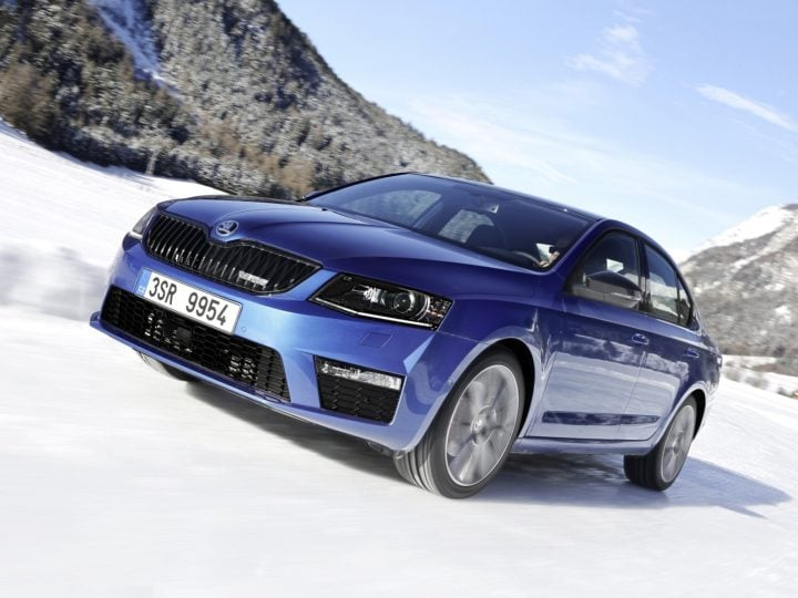 2017 skoda octavia rs india front angle images