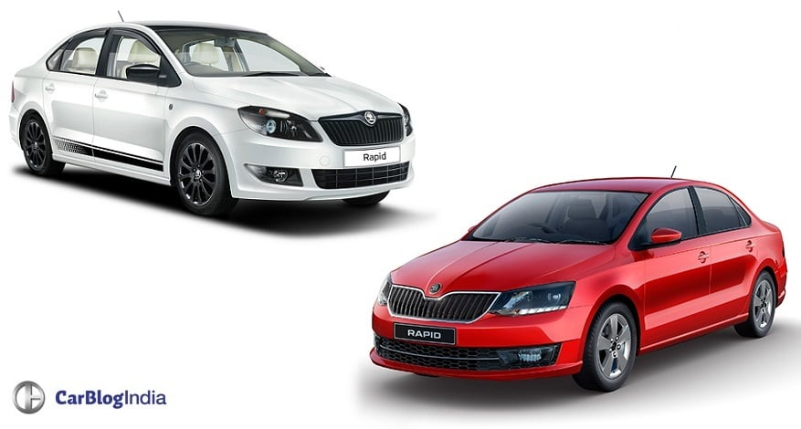 skoda rapid old vs new model price specifications feature comparison. Black Bedroom Furniture Sets. Home Design Ideas