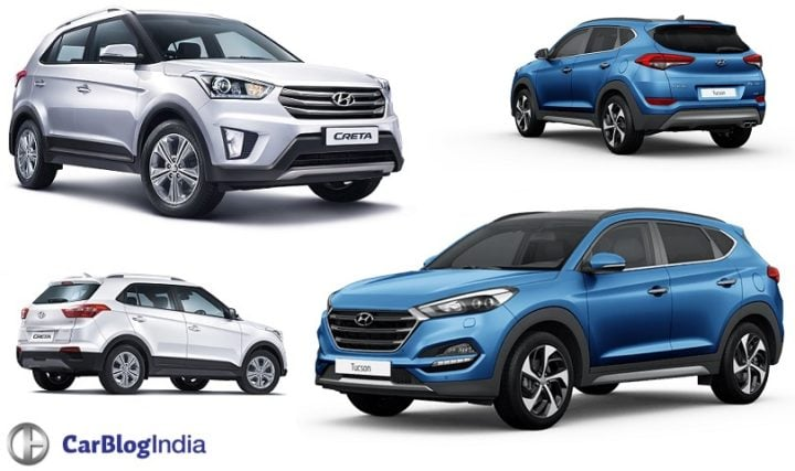 Hyundai Tucson vs Creta Comparison- Price in India, Specifications hyundai-tucson-vs-creta