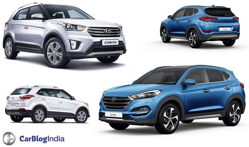 Hyundai Tucson Vs Creta Compare Price In India