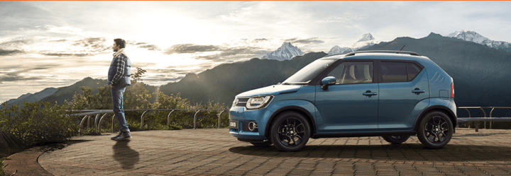 maruti ignis design review side profile images