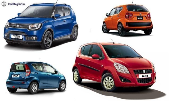 Maruti Ignis vs Ritz Comparison Price, Specs, Features, Design maruti-ignis-vs-ritz