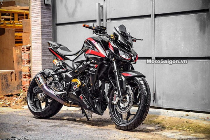 modified bajaj pulsar 200ns z1000 modification