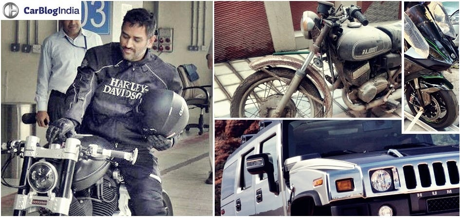 Bikes and cars of ms dhoni dhoni 39 s bike collection and for Garage ms auto