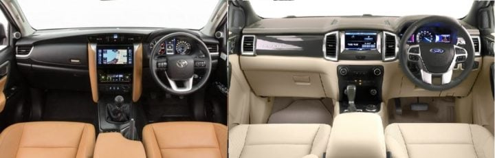 new toyota fortuner vs ford endeavour images 1