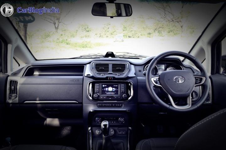 tata hexa test drive review images dashboard
