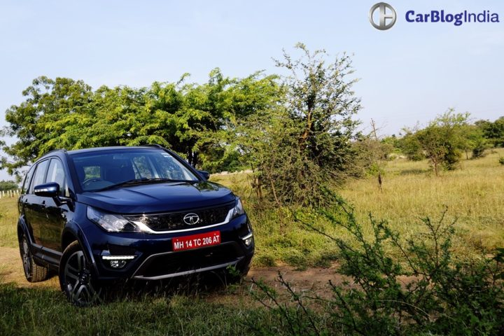 tata hexa test drive review images design front angle