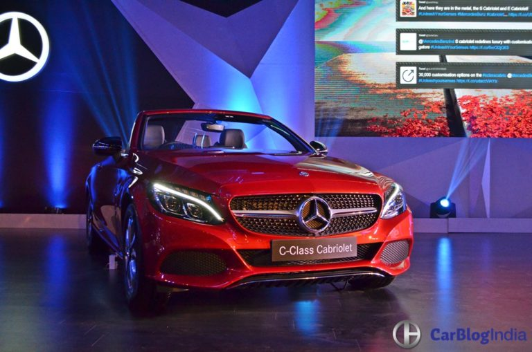 Mercedes C-Class Cabriolet Launched in India at Rs. 60 lakh