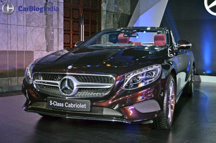 Mercedes S Class Cabriolet India Price Rs 2.25 Cr; Specifications, Images 2017-mercedes-benz-c-class-s-class-cabriolet-india-launch-2
