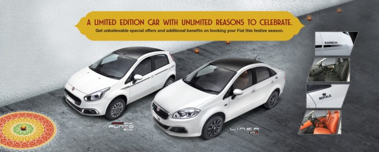 Fiat Punto Karbon and Linea Royale Limited Editions Launched