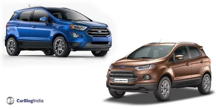 Ford EcoSport Old vs New Model Price, Specification, Feature Comparison ford-ecosport-old-vs-new