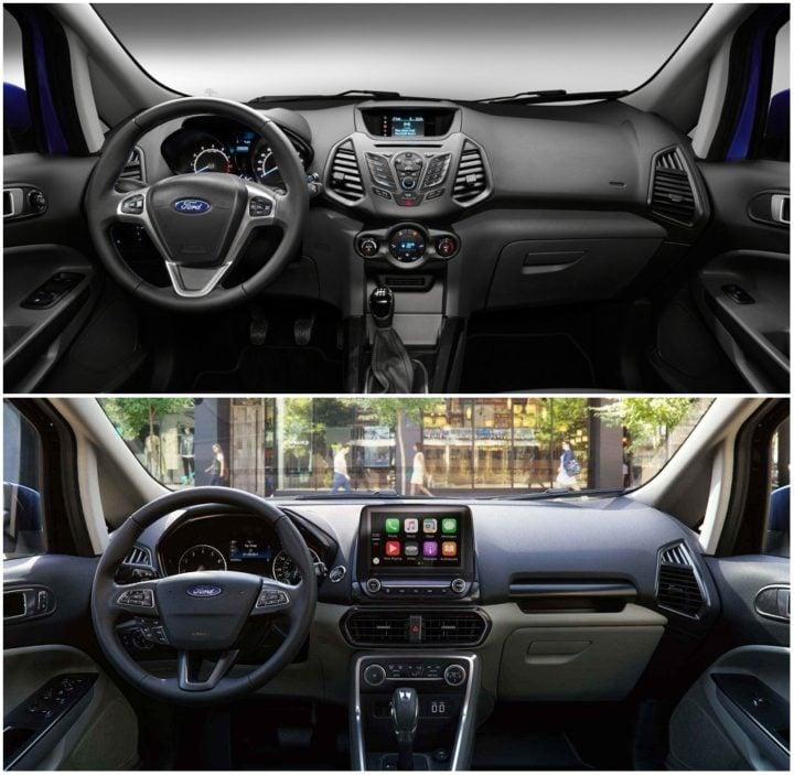 Ford EcoSport Old vs New Model Price, Specification, Feature Comparison ford-ecosport-old-vs-new-interiors
