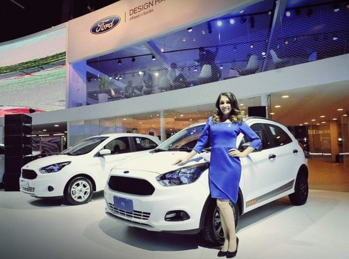 ford cars at auto expo 2018 - ford figo cross
