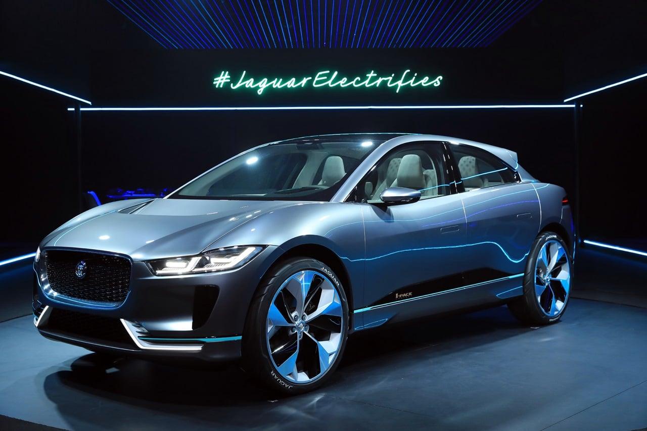 jaguar i pace concept previews electric suv to rival tesla 2018 launch. Black Bedroom Furniture Sets. Home Design Ideas