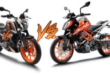 ktm 390 duke old vs new model