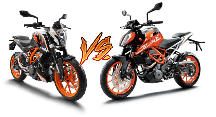 ktm duke 390 old vs new model