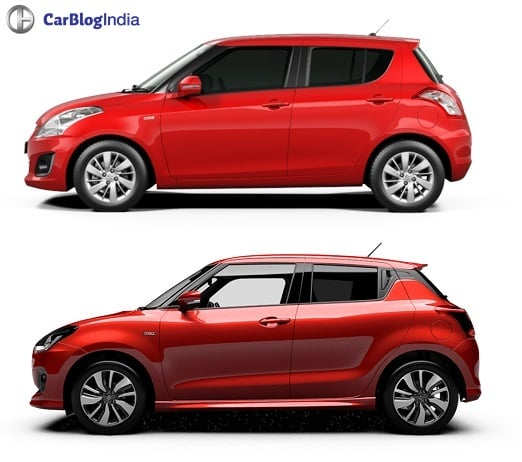2017 Maruti Swift vs Old Model