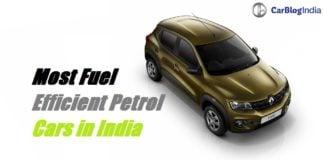 most fuel efficient petrol cars in India