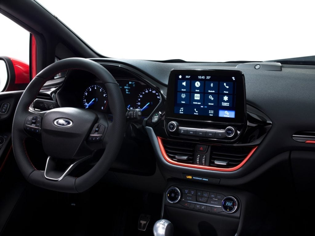 new 2017 ford fiesta st interior images dashboard ...