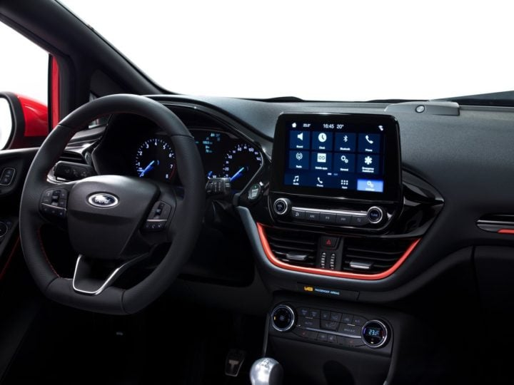 new 2017 ford fiesta st interior images dashboard
