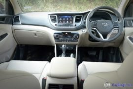 new hyundai tucson test drive review images interior dashboard