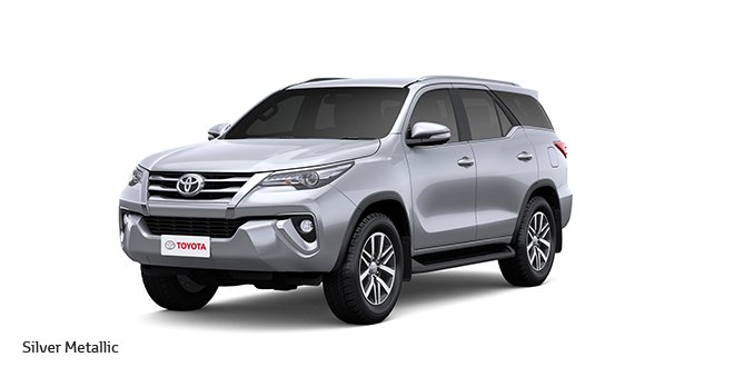 New Toyota Fortuner Official Image Colour Silver