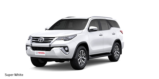 New Toyota Fortuner Official Image Colour Super White