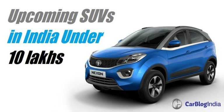 Upcoming SUVs in India Below 10 lakhs