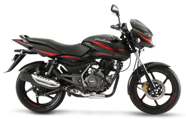 2017 Bajaj Pulsar 150 laser black side profile images