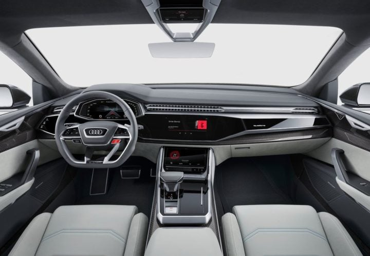 2017 audi q8 suv concept official image front dashboard