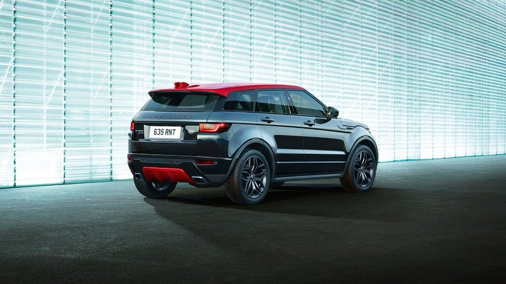 Range Rover Evoque India Ember Edition Rear Angle on 2016 Land Rover Discovery Sport Interior Roof